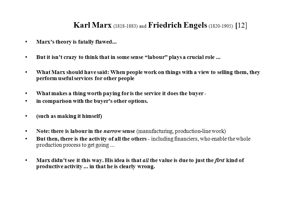 a comparison of works between karl marx and friedrich engel A comparison between karl marx essayskarl marx and max weber are two of the most important figures in the science of sociology karl marx was born on may 5.